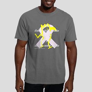neg_quote_canary_purple_ Mens Comfort Colors Shirt
