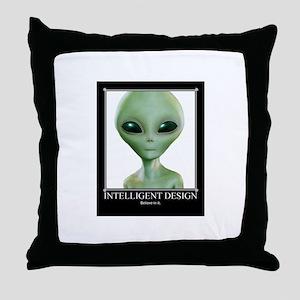 Intelligent Design: Believe in it. Throw Pillow