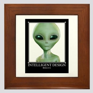 Intelligent Design: Believe in it. Framed Tile