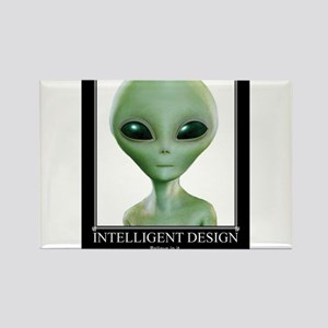 Intelligent Design: Believe in it. Rectangle Magne