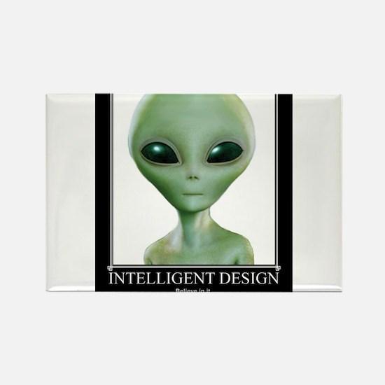 Intelligent Design: Believe in it. Rectangle Magne