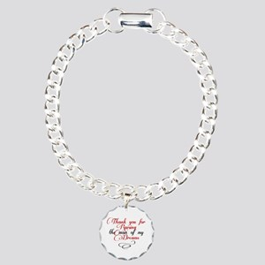 Man of my dreams Mother in law Charm Bracelet, One
