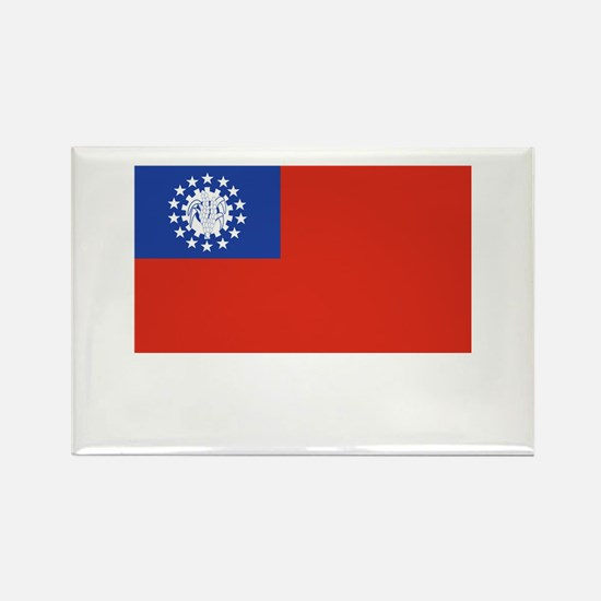 Myanmar Flag Picture Rectangle Magnet