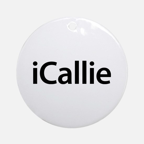 iCallie Round Ornament