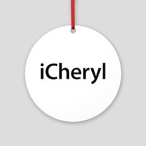 iCheryl Round Ornament