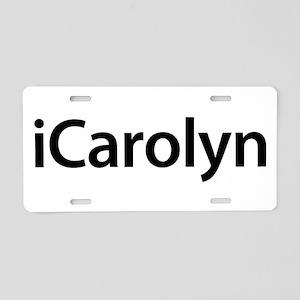 iCarolyn Aluminum License Plate