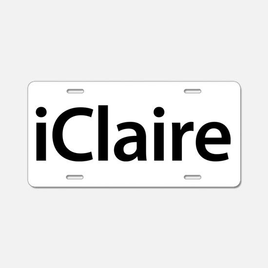 iClaire Aluminum License Plate