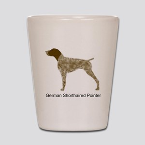 Liver & White GSP Shot Glass