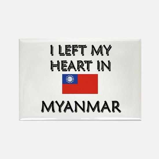 I Left My Heart In Myanmar Rectangle Magnet