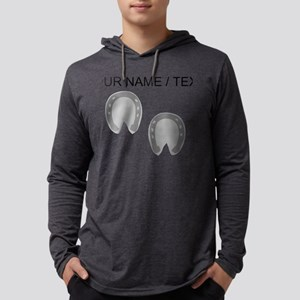 Custom Hoof Prints Mens Hooded Shirt