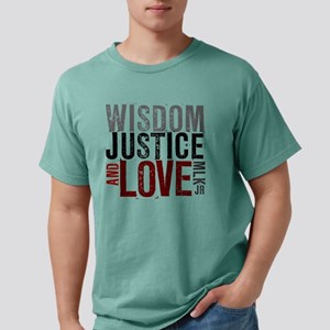 Wisdom Justice And Love  Mens Comfort Colors Shirt