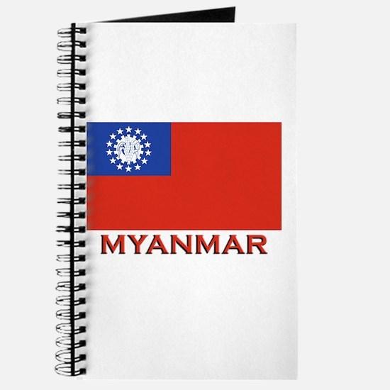 Myanmar Flag Merchandise Journal