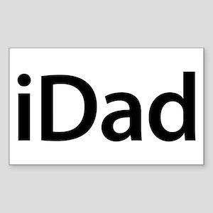 iDad Rectangle Sticker