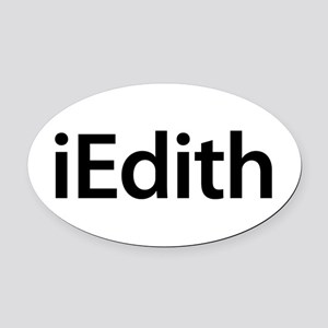 iEdith Oval Car Magnet