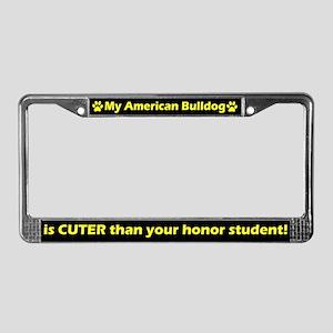 Honor American Bulldog License Plate Frame