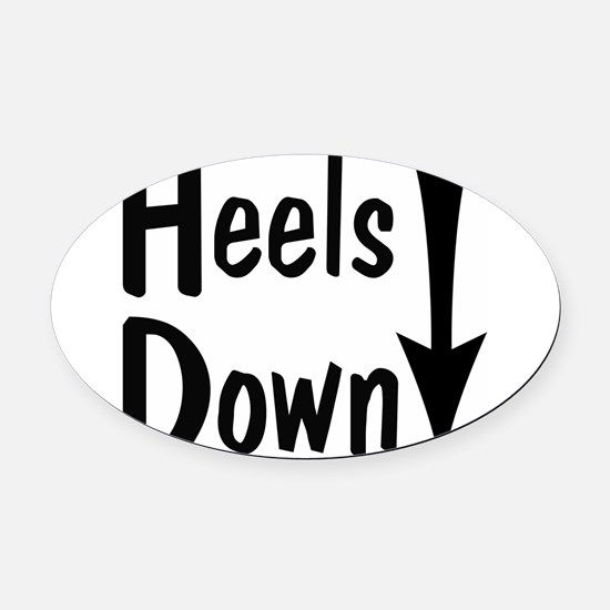 Heels Down! Arrow Oval Car Magnet