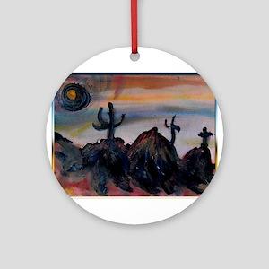 Desert, southwest landscape, art, Ornament (Round)