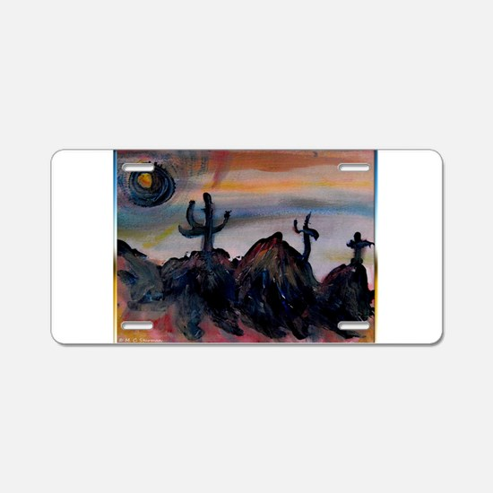 Desert, southwest landscape, art, Aluminum License