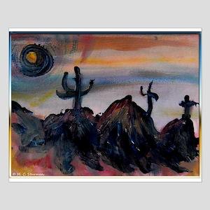 Desert, southwest landscape, art, Small Poster