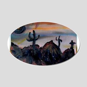 Desert, southwest landscape, art, 20x12 Oval Wall