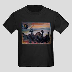 Desert, southwest landscape, art, Kids Dark T-Shir