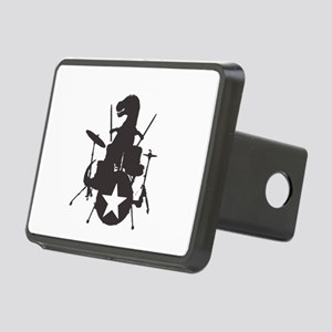 T-Rex Playing the Drums Rectangular Hitch Cover
