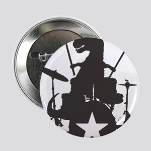 """T-Rex Playing the Drums 2.25"""" Button"""