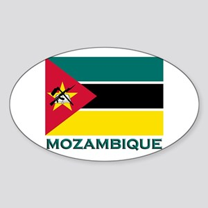 Mozambique Flag Merchandise Oval Sticker