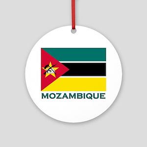 Mozambique Flag Merchandise Ornament (Round)