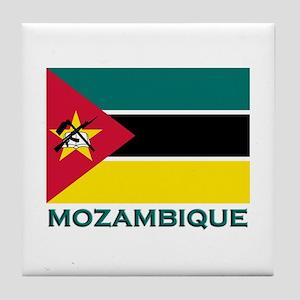 Mozambique Flag Merchandise Tile Coaster