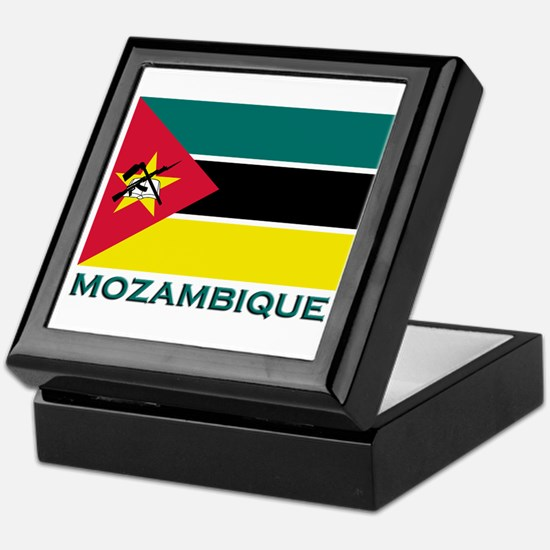 Mozambique Flag Merchandise Keepsake Box