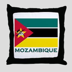 Mozambique Flag Merchandise Throw Pillow