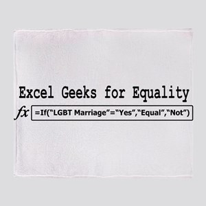 Excel Geeks for Equality Throw Blanket