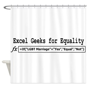Microsoft Excel Shower Curtains