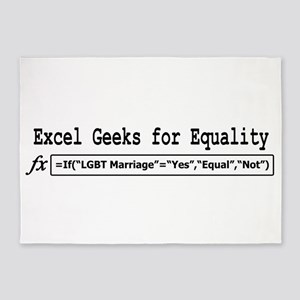 Excel Geeks for Equality 5'x7'Area Rug