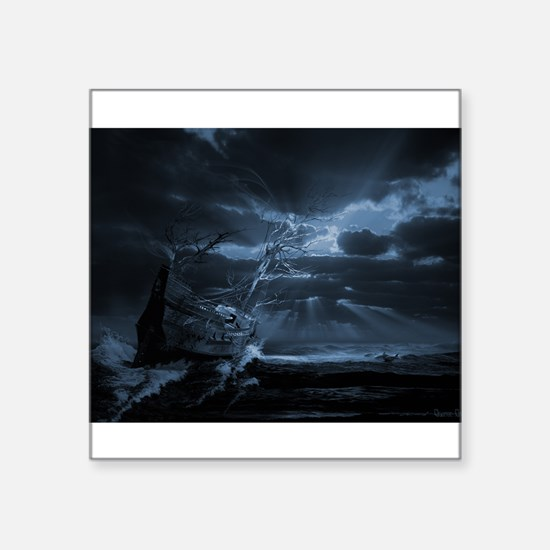 Ghost ship series: Chasing the light Square Sticke