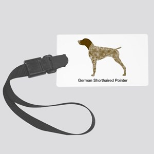 Liver & White GSP Large Luggage Tag