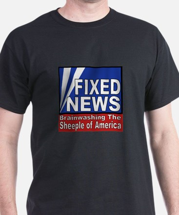 Fixed News Sheeple Black T-Shirt