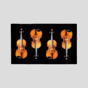 Viola / Violin Designs 3'x5' Area Rug