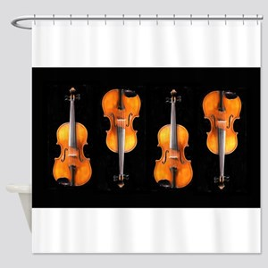 Viola / Violin Designs Shower Curtain