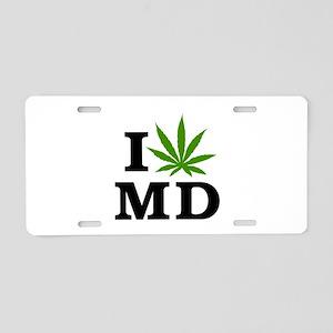 I Love Cannabis Maryland Aluminum License Plate
