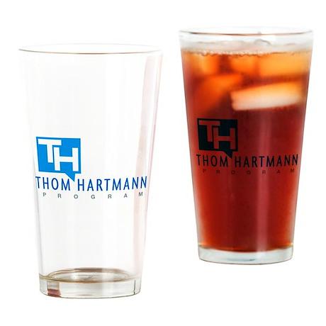 Thom Hartmann Logo Drinking Glass