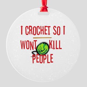 crochetkills090709 Round Ornament