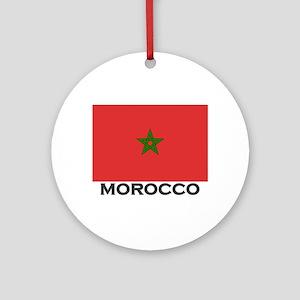 Morocco Flag Stuff Ornament (Round)