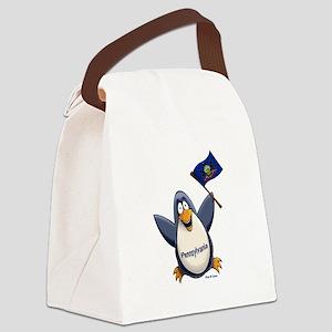 Pennsylvania Penguin Canvas Lunch Bag