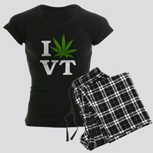 I Love Cannabis Vermont Women's Dark Pajamas