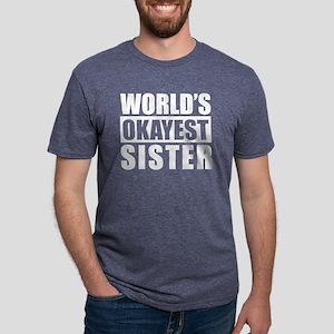 World's Okayest Sister Mens Tri-blend T-Shirt