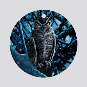 Great Horned Owl Ornament (Round)