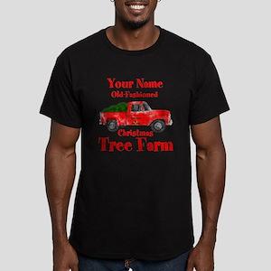 Custom Tree Farm Men's Fitted T-Shirt (dark)