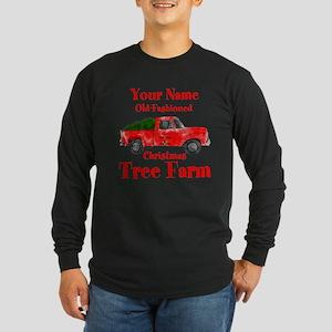Custom Tree Farm Long Sleeve Dark T-Shirt